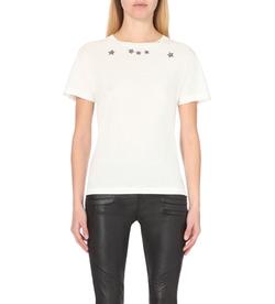 Saint Laurent - Star-Print Cotton-Jersey T-Shirt