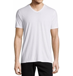 Vince - Short-Sleeve V-Neck Jersey T-Shirt