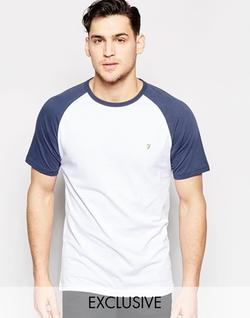Farah - Contrast Reglan Sleeves T-Shirt