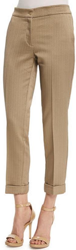 Etro - Mid-Rise Textured Capri Pants