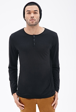 21Men - Pima Cotton-Blend Henley