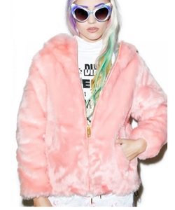 Dolls Kill - Candy Fur Jacket