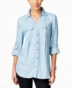 Style & Co.  - Button-Front Denim Shirt