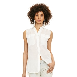 Ralph Lauren - Sleeveless Button-Down Shirt
