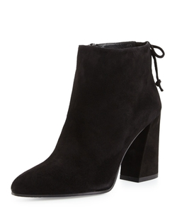 Stuart Weitzman  - Grandiose Suede Pointed-Toe Booties