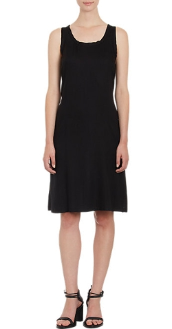Ann Demeulemeester - Belted-Back Crepe & Satin Tank Dress