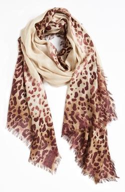 Nordstrom  - Leopard Print Cashmere & Silk Scarf