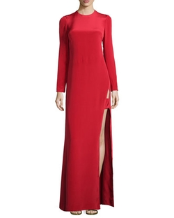 Jill Jill Stuart - Long-Sleeve Satin Gown