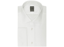 Ike Behar - Textured Solid French Cuff Dress Shirt