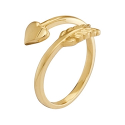 JCPenny - Yellow Gold Bypass Arrow Initial Ring