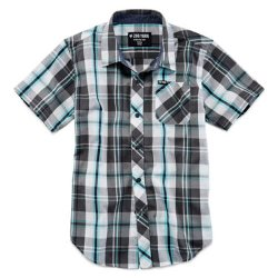 JC Penney - Button-Front Plaid Shirt