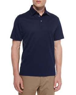 Ermenegildo Zegna	  - Cotton-Silk Pique Polo Shirt