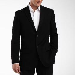 J. Ferrar - 2-Button Black Suit Jacket