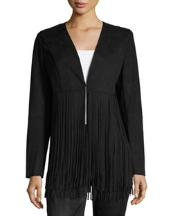 Philosophy - Faux-Suede Fringed Jacket