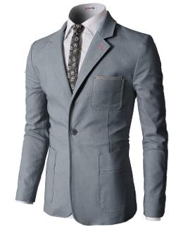 H2H - Pastel Color Slim Fit Blazer