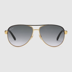 Gucci - Aviator Black Glitter Sunglasses