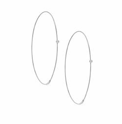Lana  - Large Diamond Magic Hoop Earrings