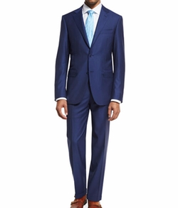 Canali  - Striped Wool Two-Piece Suit