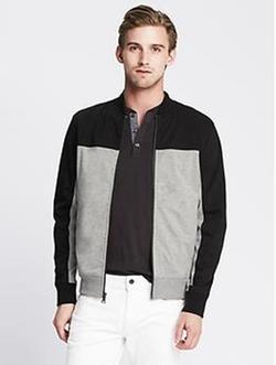 Banana-Republic - Colorblock Zip Jacket