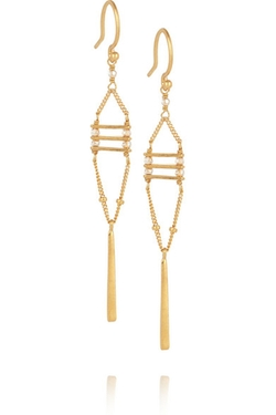 Chan Luu  - Gold-Plated Swarovski Crystal Earrings