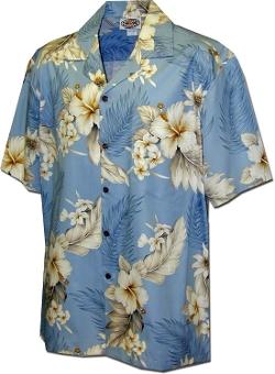 Pacific Legend - Tropical Floral Hibiscus and Plumeria Hawaiian Shirt