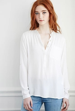 Forever 21 - Crepe Popover Blouse