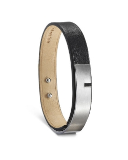 Ursul - U-Turn Large Black Leather Bracelet