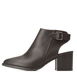 Charlotte Russe - Qupid Texture Block Pointed Toe Booties