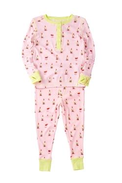 Munki Munki  - Pink Gnomes Long John Pajama