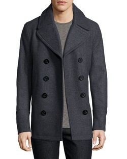 Burberry Brit - Eckford Melange Double-Breasted Pea Coat