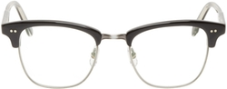 Garrett Leight   - Black Horn-Rimmed Lincoln Optical Glasses