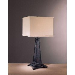 Minka Ambience - Table Lamp with Cream Square Shade