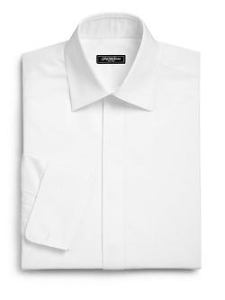 Saks Fifth Avenue Collection  - Flat-Front Tuxedo Shirt