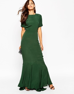Asos Petite - Fishtail Maxi Dress