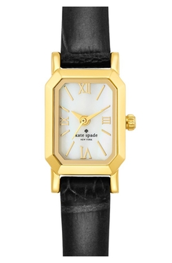 Kate Spade New York - Tiny Hudson Leather Strap Watch