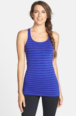 Zella - Easy Over Stripe Racerback Tank