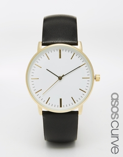Asos Curve - Clean Leather Strap Watch