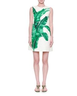 Dolce and Gabbana - Banana Leaf Shift Dress
