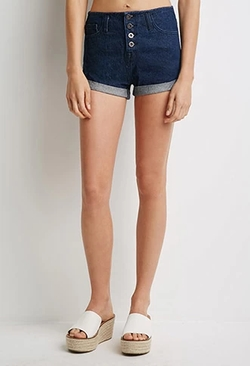 Forever21 - Cuffed Denim Shorts