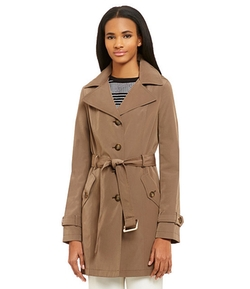 Calvin Klein - Belted Hooded Trench Coat