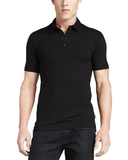 Armani Collezioni	  - Stretch Short-Sleeve Polo