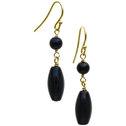 Aluma Usa - Onyx Drop Earrings