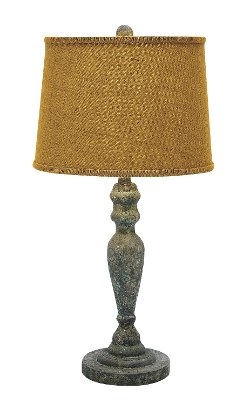 Benzara - Classic Solid Wooden Table Lamp