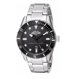 Armani Exchange - Analog Display Silver Watch