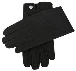 Dents  - Black Cotton Vented Gloves