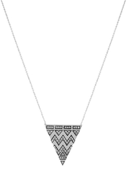 House Of Harlow - Pave Tribal Triangle Pendant Necklace