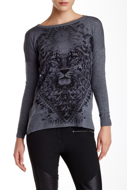 The Kooples  - Tiger Head Graphic Wool Sweater