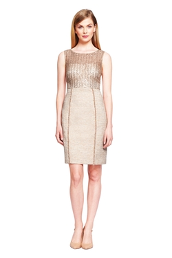 Kay Unger - Sequin And Tweed Cocktail Dress