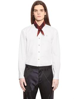 Vivienne Westwood - Scarf Collar Cotton Poplin Shirt