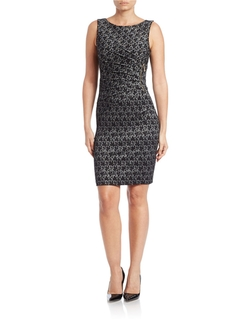Ivanka Trump - Sleeveless Lace Sheath Dress
